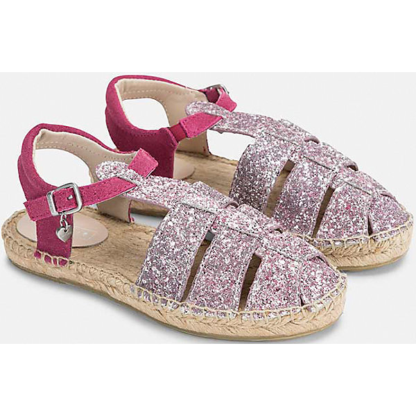 Mayoral Сандалии для девочки Mayoral сандалии для девочки worldcolors цвет серебристый 021 036g размер 20 21