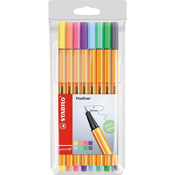 Купить Набор капиллярных ручек Stabilo Point пастель, 8 цветов, Германия, pastell, Унисекс
