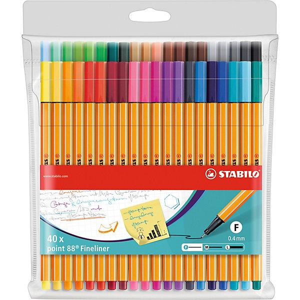 "STABILO Капиллярные ручки Stabilo ""Point 88"", 40 цветов"