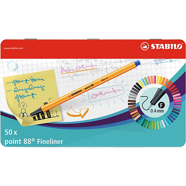 "STABILO Капиллярные ручки Stabilo ""Point 88"", 50 цветов"