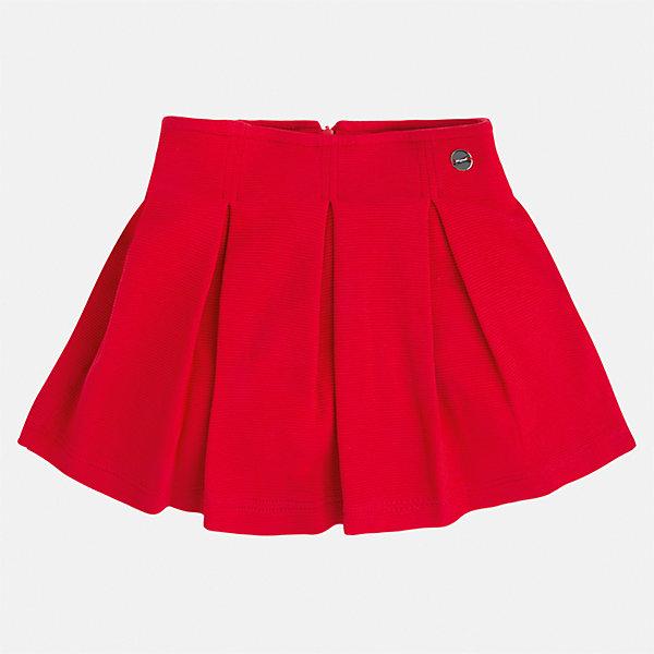 Юбка для девочки MayoralЮбки<br>Характеристики товара:<br><br>• цвет: красный<br>• состав: 63% хлопок, 36% полиэстер, 1% эластан<br>• молния<br>• складки<br>• металлический логотип<br>• страна бренда: Испания<br><br>Эффектная юбка для девочки поможет разнообразить гардероб ребенка и создать эффектный наряд. Она отлично сочетаются с майками, футболками, блузками. Универсальный цвет позволяет подобрать к вещи верх разных расцветок. Юбка отлично сидит и не стесняет движения.<br><br>Одежда, обувь и аксессуары от испанского бренда Mayoral полюбились детям и взрослым по всему миру. Модели этой марки - стильные и удобные. Для их производства используются только безопасные, качественные материалы и фурнитура. Порадуйте ребенка модными и красивыми вещами от Mayoral! <br><br>Юбку для девочки от испанского бренда Mayoral (Майорал) можно купить в нашем интернет-магазине.<br>Ширина мм: 207; Глубина мм: 10; Высота мм: 189; Вес г: 183; Цвет: красный; Возраст от месяцев: 18; Возраст до месяцев: 24; Пол: Женский; Возраст: Детский; Размер: 92,134,128,122,116,110,104,98; SKU: 5300551;