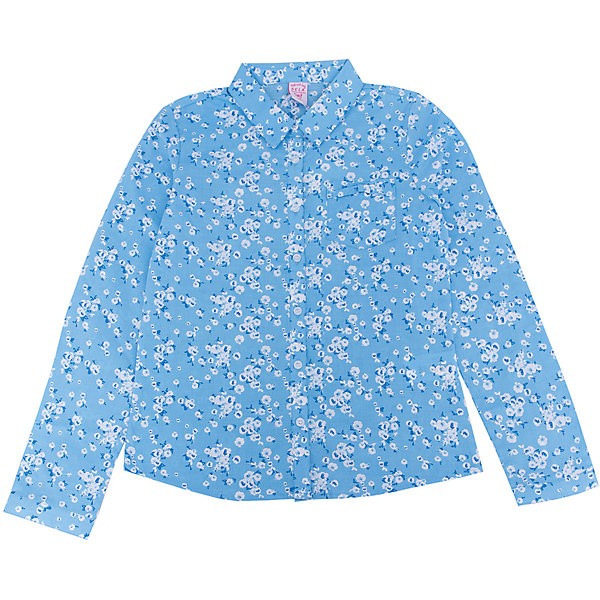 Блуза для девочки SELAБлузки и рубашки<br>Характеристики:<br><br>• Вид детской и подростковой одежды: блузка<br>• Предназначение: повседневная (для школы), праздничная<br>• Сезон: весна-лето<br>• Стиль: романтичный<br>• Тематика рисунка: цветочный<br>• Цвет: голубой принт<br>• Материал: хлопок, 100%<br>• Силуэт: полуприталенный<br>• Длина рукава: длинный с манжетом<br>• Воротник: отложной<br>• Застежка: пуговицы на передней планке<br>• Особенности ухода: допускается деликатная стирка без использования красящих и отбеливающих средств, глажение на щадящем режиме<br><br>Блуза для девочки SELA из коллекции детской и подростковой одежды от знаменитого торгового бренда, который производит удобную, комфортную и стильную одежду, предназначенную как для будней, так и для праздников. Блузка для девочки SELA выполнена из 100% хлопка, который обладает хорошими гигиеническими и гигроскопичными свойствами, при частых стирках не изменяет цвет, оличается повышенной износоустойчивостью . Изделие выполнено в классическом стиле: полуприталенный силуэт, длинный рукав с манжетами и отложной воротничок. Небесно-голубой цвет и мелкий цветочный принт придают изделию романтическую нотку. Блузка для девочки SELA может быть в качестве базовой вещи в гардеробе девочки, прекрасно будет сочетаться с однотонным строгим пиджаком.<br><br>Блузу для девочки SELA можно купить в нашем интернет-магазине.<br>Состав:<br>100% хлопок<br>Ширина мм: 186; Глубина мм: 87; Высота мм: 198; Вес г: 197; Цвет: голубой; Возраст от месяцев: 108; Возраст до месяцев: 120; Пол: Женский; Возраст: Детский; Размер: 140,134,128,122,116,152,146; SKU: 5305007;