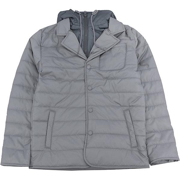 Куртка для мальчика SELAВерхняя одежда<br>Характеристики:<br><br>• Вид детской и подростковой одежды: куртка<br>• Пол: для мальчика<br>• Предназначение: повседневная<br>• Сезон: демисезон<br>• Температурный режим: до -5? С<br>• Тематика рисунка: без рисунка<br>• Цвет: серый<br>• Материал: полиэстер 100%, утеплитель – полиэстер, 100%<br>• Силуэт: прямой<br>• Длина куртки: до середины бедра<br>• Капюшон: притачной, с карабинами и молнией<br>• Воротник: отложной, пиджачного типа<br>• Застежка: пуговицы, спереди<br>• Спереди имеются карманы <br>• Особенности ухода: допускается щадящая стирка и химчистка<br><br>Куртка для мальчика SELA из коллекции детской и подростковой одежды от знаменитого торгового бренда, который производит удобную, комфортную и стильную одежду, предназначенную как для будней, так и для праздников. Куртка выполнена из полиэстера, который обладает влагонепроницаемыми и ветрозащитными свойствами. Утеплитель и подклад обеспечивает поддержание комфортной температуры. Длина куртки – средняя, что защищает спину от продувания. Спереди имеется застежка на на пуговицах и карманы. Особый стилевой дизайн куртке придают отложной воротник пиджачного типа и капюшон контрастного цвета с застежкой молнией. Стеганая курточка выполнена в классическом сером цвете. <br><br>Куртку для мальчика SELA можно купить в нашем интернет-магазине.<br>Ширина мм: 356; Глубина мм: 10; Высота мм: 245; Вес г: 519; Цвет: серый; Возраст от месяцев: 108; Возраст до месяцев: 120; Пол: Мужской; Возраст: Детский; Размер: 140,128,116,152; SKU: 5305148;