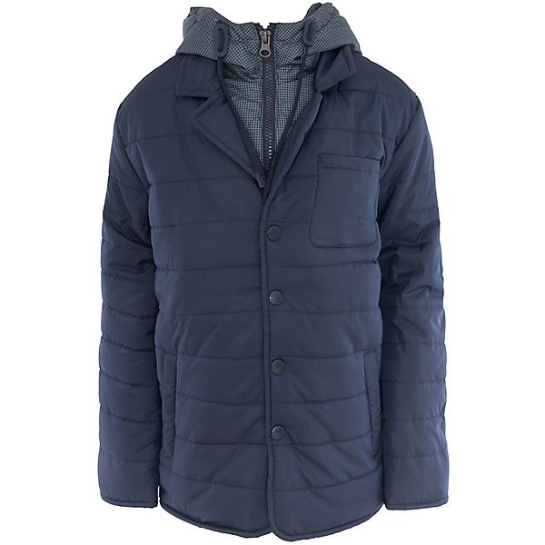Куртка для мальчика SELAВерхняя одежда<br>Характеристики:<br><br>• Вид детской и подростковой одежды: куртка<br>• Пол: для мальчика<br>• Предназначение: повседневная<br>• Сезон: демисезон<br>• Температурный режим: до -5? С<br>• Тематика рисунка: без рисунка<br>• Цвет: темно-синий<br>• Материал: полиэстер 100%, утеплитель – полиэстер, 100%<br>• Силуэт: прямой<br>• Длина куртки: до середины бедра<br>• Капюшон: притачной, с карабинами и молнией<br>• Воротник: отложной, пиджачного типа<br>• Застежка: пуговицы, спереди<br>• Спереди имеются карманы <br>• Особенности ухода: допускается щадящая стирка и химчистка<br><br>Куртка для мальчика SELA из коллекции детской и подростковой одежды от знаменитого торгового бренда, который производит удобную, комфортную и стильную одежду, предназначенную как для будней, так и для праздников. Куртка выполнена из полиэстера, который обладает влагонепроницаемыми и ветрозащитными свойствами. Утеплитель и подклад обеспечивает поддержание комфортной температуры. Длина куртки – средняя, что защищает спину от продувания. Спереди имеется застежка на на пуговицах и карманы. Особый стилевой дизайн куртке придают отложной воротник пиджачного типа и капюшон контрастного цвета с застежкой молнией. Стеганая курточка выполнена в классическом темно-синем цвете. <br><br>Куртку для мальчика SELA можно купить в нашем интернет-магазине.<br>Ширина мм: 356; Глубина мм: 10; Высота мм: 245; Вес г: 519; Цвет: синий; Возраст от месяцев: 60; Возраст до месяцев: 72; Пол: Мужской; Возраст: Детский; Размер: 116,140,128,152; SKU: 5305153;