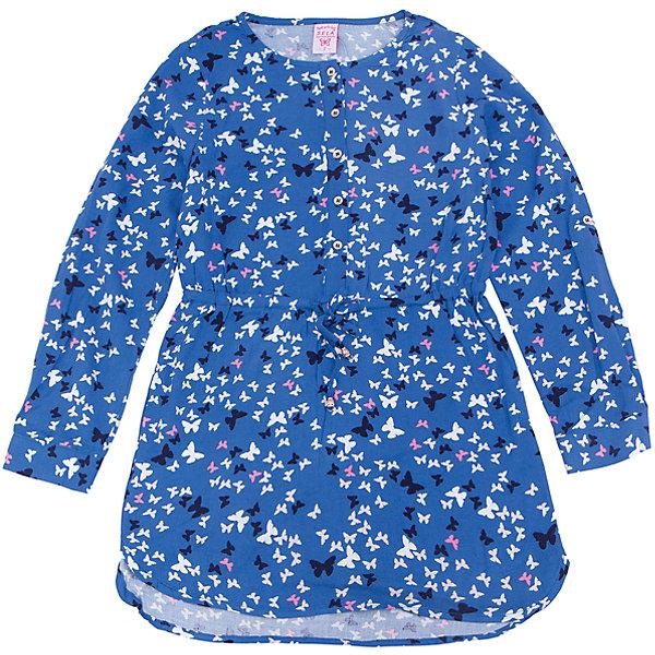 Платье для девочки SELAПлатья и сарафаны<br>Характеристики товара:<br><br>• цвет: синий<br>• состав: 100% вискоза<br>• декорировано цветочным принтом<br>• приталенное<br>• длинные рукава<br>• застёгивается на пуговицы<br>• коллекция весна-лето 2017<br>• страна бренда: Российская Федерация<br>• страна изготовитель: Китай<br><br>В новой коллекции SELA отличные модели одежды! Это платье для девочки поможет разнообразить гардероб ребенка и обеспечить комфорт. Оно отлично сочетается с различной обувью. Стильная и удобная вещь!<br><br>Одежда, обувь и аксессуары от российского бренда SELA не зря пользуются большой популярностью у детей и взрослых! Модели этой марки - стильные и удобные, цена при этом неизменно остается доступной. Для их производства используются только безопасные, качественные материалы и фурнитура. Новая коллекция поддерживает хорошие традиции бренда! <br><br>Платье для девочки от популярного бренда SELA (СЕЛА) можно купить в нашем интернет-магазине.<br>Ширина мм: 236; Глубина мм: 16; Высота мм: 184; Вес г: 177; Цвет: синий; Возраст от месяцев: 84; Возраст до месяцев: 96; Пол: Женский; Возраст: Детский; Размер: 128,122,116,152,146,140,134; SKU: 5305249;