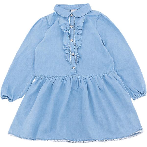 Платье джинсовое для девочки SELAДжинсовая одежда<br>Характеристики товара:<br><br>• цвет: синий джинс<br>• сезон: лето, демисезон<br>• состав: 100% хлопок<br>• декорировано оборками<br>• длина выше колена<br>• длинные рукава<br>• страна бренда: Россия<br><br>В новой коллекции SELA отличные модели одежды! Это платье для девочки поможет разнообразить гардероб ребенка и обеспечить комфорт. Оно отлично сочетается с различной обувью. <br><br>Одежда, обувь и аксессуары от российского бренда SELA не зря пользуются большой популярностью у детей и взрослых! Модели этой марки - стильные и удобные, цена при этом неизменно остается доступной. Для их производства используются только безопасные, качественные материалы и фурнитура.<br><br>Платье для девочки от популярного бренда SELA (СЕЛА) можно купить в нашем интернет-магазине.<br>Ширина мм: 236; Глубина мм: 16; Высота мм: 184; Вес г: 177; Цвет: синий деним; Возраст от месяцев: 60; Возраст до месяцев: 72; Пол: Женский; Возраст: Детский; Размер: 116,98,110,104; SKU: 5305257;
