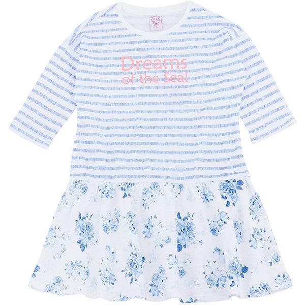 Платье для девочки SELAПлатья и сарафаны<br>Характеристики товара:<br><br>• цвет: белый, голубой, в полоску <br>• сезон: лето<br>• состав: 100% хлопок<br>• принт<br>• длина выше колена<br>• рукава 3/4 <br>• комфортная посадка<br>• страна бренда: Россия<br><br>В новой коллекции SELA отличные модели одежды! Это платье для девочки поможет разнообразить гардероб ребенка и обеспечить комфорт. Оно отлично сочетается с босоножками или туфельками. <br><br>Одежда, обувь и аксессуары от российского бренда SELA не зря пользуются большой популярностью у детей и взрослых.<br><br>Платье для девочки от популярного бренда SELA (СЕЛА) можно купить в нашем интернет-магазине.<br>Ширина мм: 236; Глубина мм: 16; Высота мм: 184; Вес г: 177; Цвет: белый; Возраст от месяцев: 18; Возраст до месяцев: 24; Пол: Женский; Возраст: Детский; Размер: 92,116,110,104,98; SKU: 5305298;