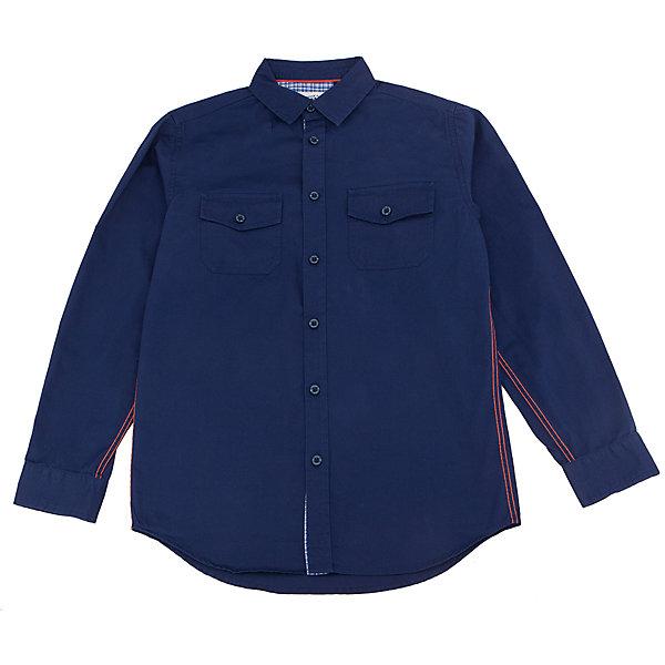 Рубашка для мальчика SELAБлузки и рубашки<br>Характеристики товара:<br><br>• цвет: тёмно-синий<br>• состав: 100% хлопок<br>• прямой силуэт<br>• пуговицы<br>• длинные рукава с опцией подгибки<br>• отложной воротник<br>• два кармана на пуговицах<br>• коллекция весна-лето 2017<br>• страна бренда: Российская Федерация<br>• страна изготовитель: Китай<br><br>Вещи из новой коллекции SELA продолжают радовать удобством! Модная рубашка для мальчика поможет разнообразить гардероб ребенка и обеспечить комфорт. Она отлично сочетается с джинсами и брюками. Очень стильно смотрится!<br><br>Одежда, обувь и аксессуары от российского бренда SELA не зря пользуются большой популярностью у детей и взрослых! Модели этой марки - стильные и удобные, цена при этом неизменно остается доступной. Для их производства используются только безопасные, качественные материалы и фурнитура. Новая коллекция поддерживает хорошие традиции бренда! <br><br>Рубашку для мальчика от популярного бренда SELA (СЕЛА) можно купить в нашем интернет-магазине.<br>Ширина мм: 174; Глубина мм: 10; Высота мм: 169; Вес г: 157; Цвет: синий; Возраст от месяцев: 108; Возраст до месяцев: 120; Пол: Мужской; Возраст: Детский; Размер: 140,134,128,122,116,152,146; SKU: 5305515;
