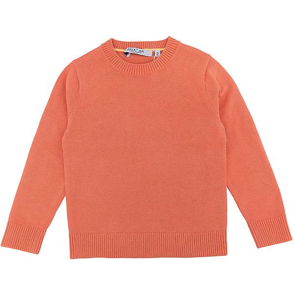 Джемпер для мальчика SELAСвитера и кардиганы<br>Характеристики:<br><br>• Вид детской и подростковой одежды: джемпер<br>• Пол: для мальчика<br>• Предназначение: повседневная (для школы)<br>• Сезон: демисезонный<br>• Тематика рисунка: без рисунка<br>• Цвет: оранжевый<br>• Материал: хлопок, 100%<br>• Силуэт: классический<br>• Рукав: втачной<br>• Воротник: округлый<br>• Особенности ухода: ручная стирка при температуре не более 30 градусов, глажение на щадящем режиме<br><br>Джемпер для мальчика SELA из коллекции детской и подростковой одежды от знаменитого торгового бренда, который производит удобную, комфортную и стильную одежду, предназначенную как для будней, так и для праздников. Джемпер выполнен из 100% хлопка, который обеспечивает изделию гипоаллергенные свойства, устойчивость к деформации и образованию катышков. Изделие выполнено в классическом стиле: прямой силуэт, длинный втачной рукав с манжетами из эластичной резинки и округлый воротничок. Джемпер выполнен в ярко оранжевом цвете. Изделие может быть в качестве базовой вещи в гардеробе для мальчика, прекрасно будет сочетаться как с брюками, так и с джинсами.<br><br>Джемпер для мальчика SELA можно купить в нашем интернет-магазине.<br>Состав:<br>100% хлопок<br>Ширина мм: 190; Глубина мм: 74; Высота мм: 229; Вес г: 236; Цвет: оранжевый; Возраст от месяцев: 18; Возраст до месяцев: 24; Пол: Мужской; Возраст: Детский; Размер: 92,116,110,104,98; SKU: 5305649;