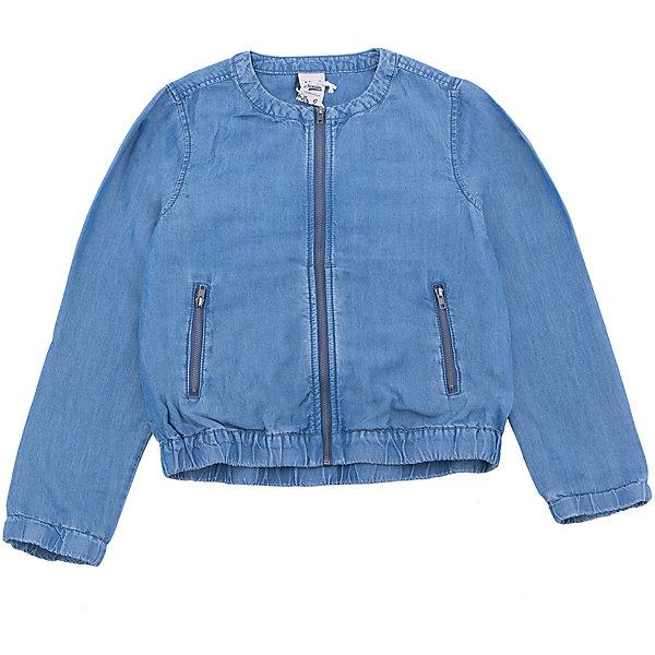Куртка джинсовая для девочки SELAДжинсовая одежда<br>Характеристики товара:<br><br>• цвет:  синий джинс<br>• сезон: демисезон<br>• состав:  100% ВИС (тенсел)<br>• резинка по низу и в рукавах<br>• карманы<br>• длинные рукава<br>• легкая<br>• молния<br>• страна бренда: Россия<br><br>Вещи из новой коллекции SELA продолжают радовать удобством! Стильная легкая куртка для девочки поможет разнообразить гардероб ребенка и обеспечить комфорт в прохладную погоду. Она отлично сочетается с юбками и брюками. Отличается оригинальной отделкой. <br><br>Одежда, обувь и аксессуары от российского бренда SELA не зря пользуются большой популярностью у детей и взрослых! Модели этой марки - стильные и удобные, цена при этом неизменно остается доступной. Для их производства используются только безопасные, качественные материалы и фурнитура. Новая коллекция поддерживает хорошие традиции бренда! <br><br>Жакет для девочки от популярного бренда SELA (СЕЛА) можно купить в нашем интернет-магазине.<br>Ширина мм: 190; Глубина мм: 74; Высота мм: 229; Вес г: 236; Цвет: синий деним; Возраст от месяцев: 108; Возраст до месяцев: 120; Пол: Женский; Возраст: Детский; Размер: 140,134,128,122,116,152,146; SKU: 5305700;