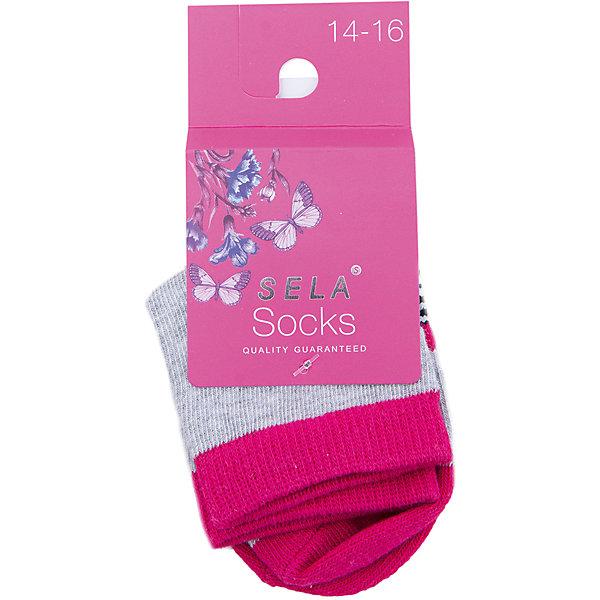 SELA Носки для девочки SELA носки для девочки sela цвет белый sob 5654 204 8111 размер 18 20