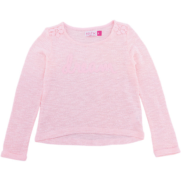 SELA Футболка с длинным рукавом для девочки SELA sela футболка для девочки sela