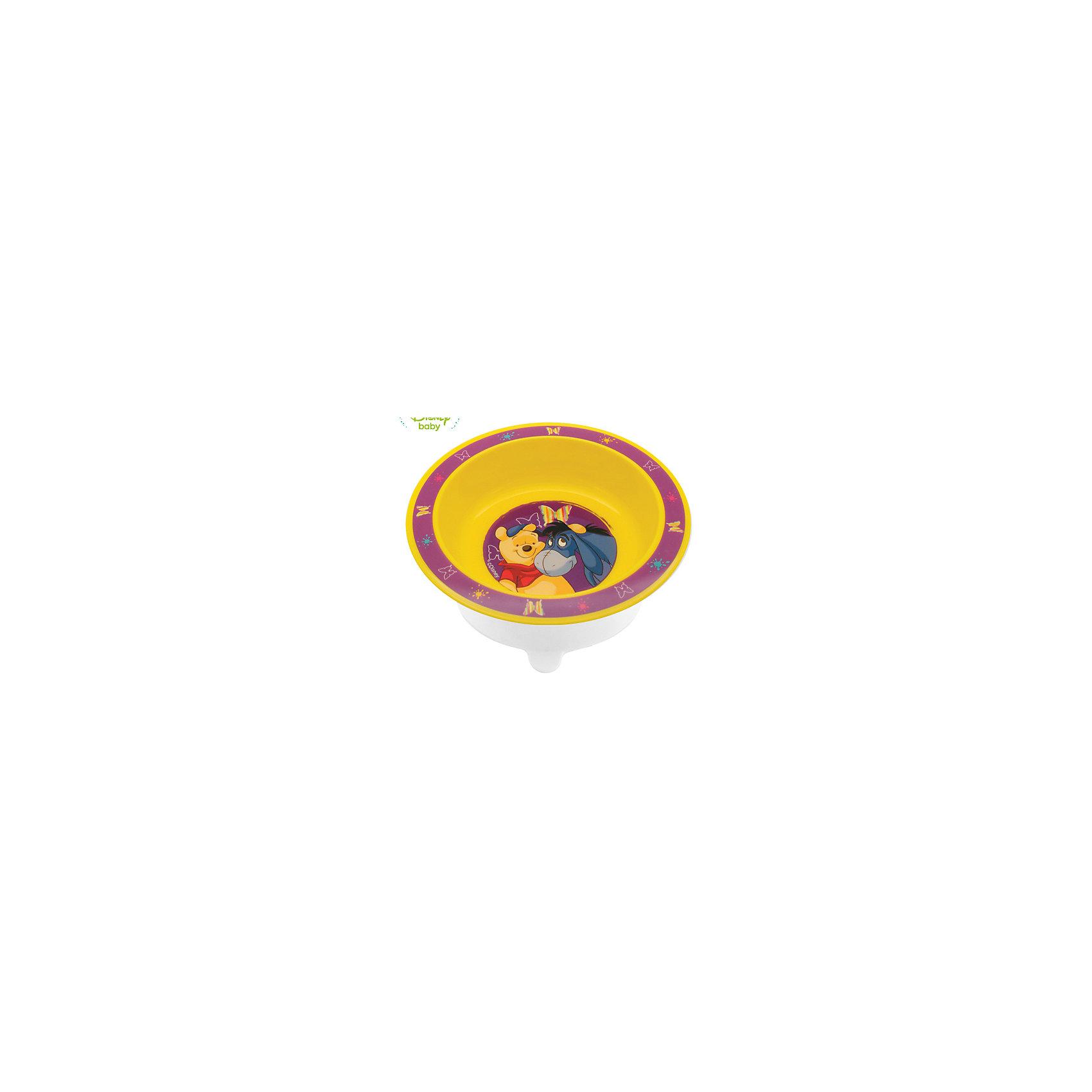 Тарелка Мои друзья Тигруля и Винни с присоской DISNEY от 6 мес., LUBBY, жёлтый