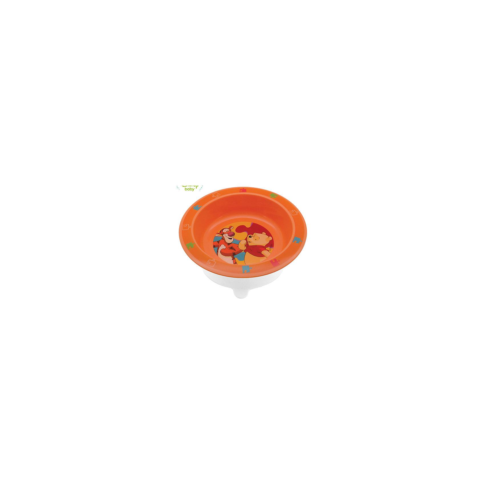 Тарелка Мои друзья Тигруля и Винни с присоской DISNEY от 6 мес., LUBBY, оранжевый