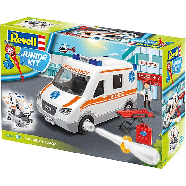 Набор для детей Машина скорой помощиАвтомобили<br>Характеристики товара:<br><br>• возраст: от 4 лет;<br>• цвет: белый;<br>• масштаб: 1:20;<br>• количество деталей: 39 шт;<br>• материал: пластик;<br>• клей и краски в комплект не входят;<br>• бренд, страна бренда: Revell (Ревел),Германия;<br>• страна-изготовитель: Польша.<br><br>Набор для детей «Машина скорой помощи» поможет вам и вашему ребенку придумать увлекательное занятие на долгое время, а также получить замечательную игрушку. Модель имеет интересный дизайн и очень хорошо детализирована.<br><br>С помощью 39 пластиковых деталей, наклеек, инструкции и пластиковой отвертки из набора ребенок соберет машину скорой помощи. Модель имеет интересный дизайн и очень хорошо детализирована. Колеса машинки вращаются. Двери и капот открываются. Собранная модель может послужить мальчику интересной игрушкой. Кроме того, ребенок может разобрать автомобиль и попробовать собрать его снова за более короткий промежуток времени.<br><br>Сборка модели поможет развить мелкую моторику рук, познакомит с техническим творчеством и обучит ребенка работе с простейшими инструментами. <br><br>Набор для детей «Машина скорой помощи», 39 дет., Revell (Ревел) можно купить в нашем интернет-магазине.<br>Ширина мм: 340; Глубина мм: 246; Высота мм: 126; Вес г: 810; Возраст от месяцев: 48; Возраст до месяцев: 96; Пол: Мужской; Возраст: Детский; SKU: 5311339;