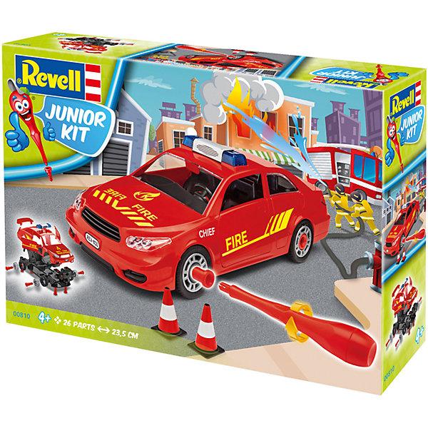 Набор для детей Пожарная легковая машинаАвтомобили<br>Характеристики товара:<br><br>• возраст: от 4 лет;<br>• цвет: красный;<br>• масштаб: 1:20;<br>• количество деталей: 30 шт;<br>• длина модели: 24 см.;<br>• материал: пластик; <br>• клей и краски в комплект не входят;<br>• бренд, страна бренда: Revell (Ревел),Германия;<br>• страна-изготовитель: Польша.<br><br>Набор для детей «Пожарная легковая машина» поможет вам и вашему ребенку придумать увлекательное занятие на долгое время, а также получить замечательную игрушку. Модель имеет интересный дизайн и очень хорошо детализирована.<br><br>С помощью 26 пластиковых деталей, наклеек, инструкции и пластиковой отвертки из набора ребенок соберет машину скорой помощи. Модель имеет интересный дизайн и очень хорошо детализирована. Колеса машинки вращаются. Двери и капот открываются. Собранная модель может послужить мальчику интересной игрушкой. Кроме того, ребенок может разобрать автомобиль и попробовать собрать его снова за более короткий промежуток времени.<br><br>Сборка модели поможет развить мелкую моторику рук, познакомит с техническим творчеством и обучит ребенка работе с простейшими инструментами. <br><br>Набор для детей «Пожарная легковая машина», 26 дет., Revell (Ревел) можно купить в нашем интернет-магазине.<br>Ширина мм: 332; Глубина мм: 244; Высота мм: 83; Вес г: 482; Возраст от месяцев: 48; Возраст до месяцев: 96; Пол: Мужской; Возраст: Детский; SKU: 5311342;