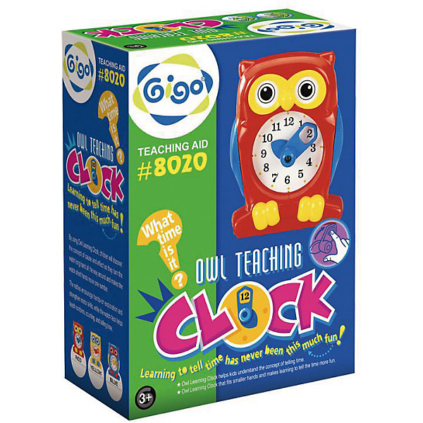 GIGO Набор для творчества Часы Сова мягкая игрушка развивающая k s kids часы сова