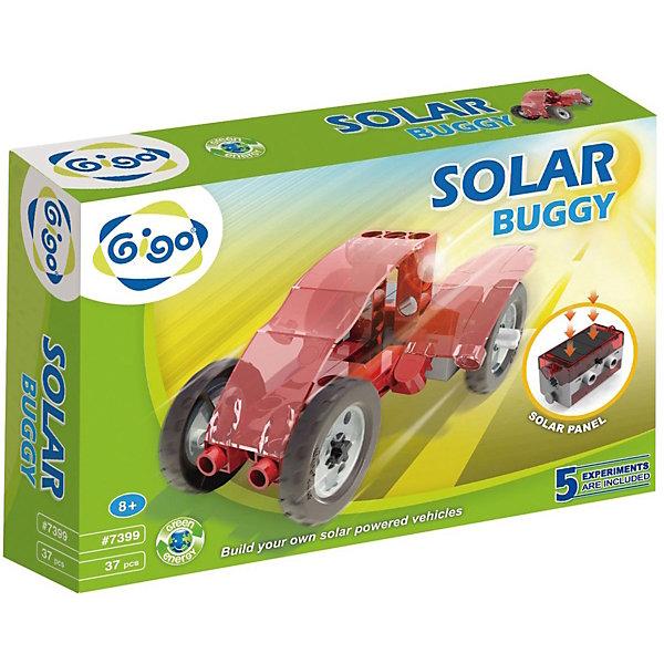 Конструктор Багги на солнечной энергииРобототехника и электроника<br>В Конструкторе Gigo Solar Buggy (Гиго. Багги на солнечной энергии) используется мотор-редуктор со встроенной солнечной батареей и при этом в него можно вставить еще и обычную батарейку. Все модели демонстрируют принцип превращения солнечной энергии в механическую. Днем под яркими и прямыми солнечными лучами все модели работают от энергии солнца, в помещении и на улице в пасмурную погоду можно использовать батарейку. Из конструктора можно собрать 5 моделей. В комплекте 37 деталей.<br>Ширина мм: 280; Глубина мм: 60; Высота мм: 220; Вес г: 380; Возраст от месяцев: 36; Возраст до месяцев: 192; Пол: Унисекс; Возраст: Детский; SKU: 5324991;