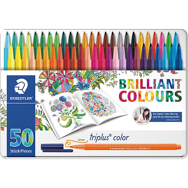 Купить Набор фломастеров Triplus Color, 50 цветов, 1 мм, Johanna Basford, Staedtler, Германия, Унисекс