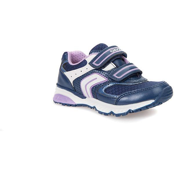 Кроссовки для девочки GEOXКроссовки<br>Характеристики товара:<br><br>• цвет: синий<br>• внешний материал: искусственные материалы<br>• внутренний материал: текстиль<br>• стелька: текстиль, искусственные материалы<br>• подошва: полимер<br>• высота подошвы: 2,5 см.<br>• застежка: липучка<br>• дышащие<br>• защита носка<br>• устойчивая подошва<br>• мембранная технология<br>• декорированы логотипом<br>• коллекция: весна-лето 2017<br>• страна бренда: Италия<br><br>Модные удобные кроссовки помогут обеспечить ребенку комфорт и дополнить наряд. Универсальный цвет позволяет надевать их под одежду разных расцветок. Кроссовки удобно сидят на ноге и очень стильно смотрятся. Отличный вариант для прогулок и занятий спортом!<br><br>Обувь от бренда GEOX - это классический пример итальянского стиля и высокого качества, известных по всему миру. Модели этой марки - неизменно модные и комфортные. Для их производства используются только безопасные, качественные материалы и фурнитура. Отличие этой линейки обуви - мембранная технология, которая обеспечивает естественное дыхание обуви и в то же время не пропускает воду. Это особенно важно для детской обуви!<br><br>Кроссовки от итальянского бренда GEOX (ГЕОКС) можно купить в нашем интернет-магазине.<br>Ширина мм: 262; Глубина мм: 176; Высота мм: 97; Вес г: 427; Цвет: синий; Возраст от месяцев: 36; Возраст до месяцев: 48; Пол: Женский; Возраст: Детский; Размер: 27,32,31,30,29,28; SKU: 5334436;