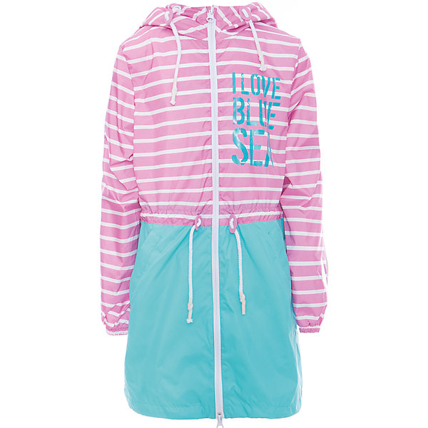 Плащ для девочки BOOM by OrbyВерхняя одежда<br>Характеристики товара:<br><br>• цвет: розовый/бирюзовый<br>• состав: верх - таффета, подкладка - полиэстер, флис, без утеплителя<br>• температурный режим: от +7°до +15°С<br>• демисезон<br>• капюшон<br>• застежка - молния<br>• декорирован принт<br>• утяжка в капюшоне<br>• шнурок в поясе<br>• комфортная посадка<br>• страна производства: Российская Федерация<br>• страна бренда: Российская Федерация<br>• коллекция: весна-лето 2017<br><br>Такой плащ - универсальный вариант для теплого межсезонья с постоянно меняющейся погодой. Эта модель - модная и удобная одновременно! Изделие отличается стильным ярким дизайном. Плащ хорошо сидит по фигуре, отлично сочетается с различным низом. Вещь была разработана специально для детей.<br><br>Одежда от российского бренда BOOM by Orby уже завоевала популярностью у многих детей и их родителей. Вещи, выпускаемые компанией, качественные, продуманные и очень удобные. Для производства коллекций используются только безопасные для детей материалы. Спешите приобрести модели из новой коллекции Весна-лето 2017!<br><br>Плащ для девочки от бренда BOOM by Orby можно купить в нашем интернет-магазине.<br>Ширина мм: 356; Глубина мм: 10; Высота мм: 245; Вес г: 519; Цвет: розовый; Возраст от месяцев: 120; Возраст до месяцев: 132; Пол: Женский; Возраст: Детский; Размер: 146,122,116,98,92,110,104,158,152,140,134,128; SKU: 5343877;