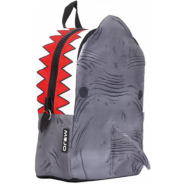 Mojo Pax Рюкзак Shark 3D, цвет серый/мульти школьные рюкзаки mojo pax рюкзак walking dead с наушниками