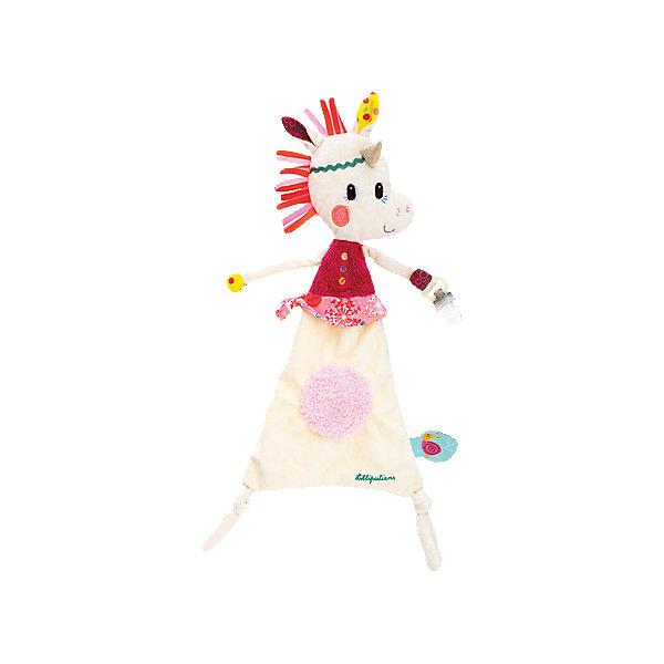 Lilliputiens Игрушка-обнимашка Единорожка Луиза, с держателем для пустышки