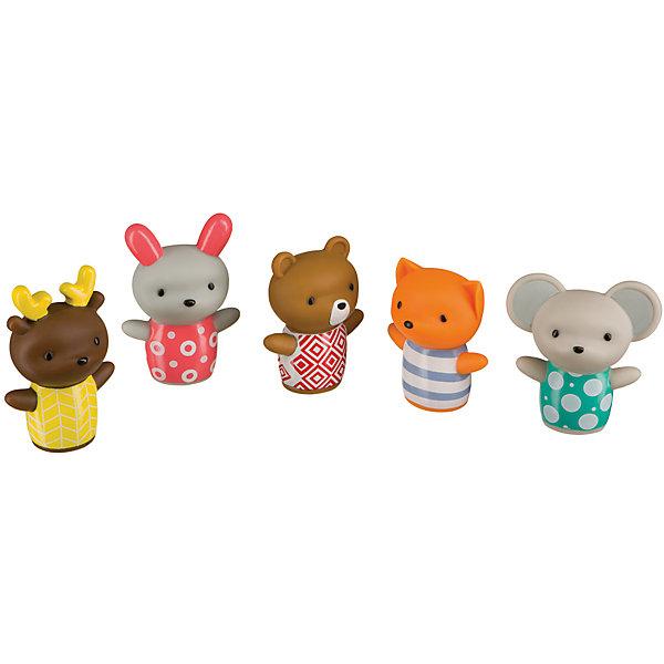 Набор ПВХ-игрушек для ванны LITTLE FRIENDS, Happy BabyИгрушки для ванной<br>Характеристики товара:<br><br>• возраст: от 6 месяцев;<br>• материал: ПВХ;<br>• в комплекте: 5 фигурок;<br>• размер упаковки: 26х17х3,5 см;<br>• вес упаковки: 85 гр.;<br>• страна производитель: Китай.<br><br>Набор игрушек для ванной «Little Friends» Happy Baby превратит купание малыша в ванной в веселый и увлекательный процесс. В наборе представлены фигурки животных, которые надеваются на пальцы. Вместе с ребенком можно устроить настоящий театр и показывать представления. В процессе игры развиваются творческие способности, фантазия, мышление, мелкая моторика рук.<br><br>Набор игрушек для ванной «Little Friends» Happy Baby можно приобрести в нашем интернет-магазине.<br>Ширина мм: 4; Глубина мм: 17; Высота мм: 26; Вес г: 40; Возраст от месяцев: 6; Возраст до месяцев: 2147483647; Пол: Унисекс; Возраст: Детский; SKU: 5345703;