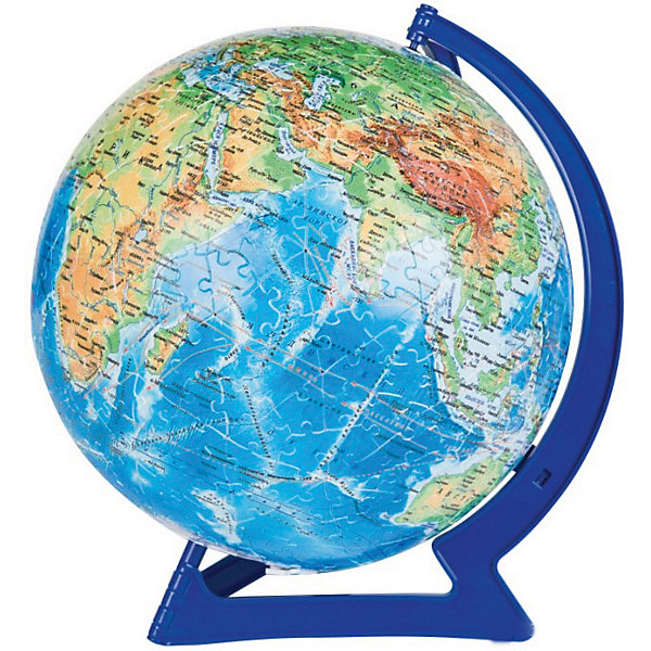Пазл-шар  Физическая карта мира, 540 деталей3D пазлы<br>Характеристики товара:<br><br>• возраст: от 6 лет;<br>• материал: пластик;<br>• в комплекте: 540 элементов, подставка;<br>• диаметр шара: 23 см;<br>• размер упаковки: 27,5х27,5х7,5 см;<br>• вес упаковки: 850 гр.;<br>• страна производитель: Россия.<br><br>Пазл-шар «Физическая карта мира» Step Puzzle — оригинальный пазл, элементы которого имеют изогнутую форму и собираются вместе, образуя шар. Собрав его, получается самый настоящий глобус, который может служить отличным дополнением при изучении географии в школе.<br><br>В процессе сборки пазла развиваются мелкая моторика рук, усидчивость, внимательность, логическое мышление. Все детали выполнены из качественного прочного пластика и надежно скрепляются между собой.<br><br>Пазл-шар «Физическая карта мира» Step Puzzle можно приобрести в нашем интернет-магазине.<br>Ширина мм: 275; Глубина мм: 275; Высота мм: 75; Вес г: 850; Возраст от месяцев: 72; Возраст до месяцев: 2147483647; Пол: Унисекс; Возраст: Детский; Количество деталей: 540; SKU: 5346235;