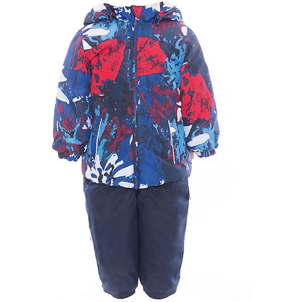 Комплект: куртка и полукомбинезон для девочки CLARA HuppaКомплекты<br>Характеристики товара:<br><br>• цвет: синий принт/тёмно-синий<br>• комплектация: куртка и полукомбинезон <br>• ткань: 100% полиэстер<br>• подкладка: Coral-fleece смесь хлопка и полиэстера, в рукавах - тафта 100% полиэстер<br>• утеплитель: 100% полиэстер; куртка 100 г, полукомбинезон 40 г<br>• температурный режим: от -5°С до +10°С<br>• водонепроницаемость: верх - 5000 мм, низ - 10000 мм<br>• воздухопроницаемость: верх - 5000 мм, низ - 10000 мм<br>• светоотражающие детали<br>• шов сидения проклеен<br>• съёмный капюшон с резинкой<br>• эластичные манжеты на рукавах<br>• манжеты брюк с резинкой<br>• съёмные эластичные штрипки<br>• без внутренних швов<br>• резиновые подтяжки<br>• коллекция: весна-лето 2017<br>• страна бренда: Эстония<br><br>Такой модный демисезонный комплект  обеспечит детям тепло и комфорт. Он сделан из материала, отталкивающего воду, и дополнен подкладкой с утеплителем, поэтому изделие идеально подходит для межсезонья. Материал изделий - с мембранной технологией: защищая от влаги и ветра, он легко выводит лишнюю влагу наружу. Комплект очень симпатично смотрится. <br><br>Одежда и обувь от популярного эстонского бренда Huppa - отличный вариант одеть ребенка можно и комфортно. Вещи, выпускаемые компанией, качественные, продуманные и очень удобные. Для производства изделий используются только безопасные для детей материалы. Продукция от Huppa порадует и детей, и их родителей!<br><br>Комплект: куртка и полукомбинезон CLARA от бренда Huppa (Хуппа) можно купить в нашем интернет-магазине.<br>Ширина мм: 356; Глубина мм: 10; Высота мм: 245; Вес г: 519; Цвет: синий; Возраст от месяцев: 12; Возраст до месяцев: 15; Пол: Женский; Возраст: Детский; Размер: 110,104,98,92,86,80; SKU: 5346594;