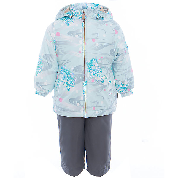 Купить Комплект: куртка и полукомбинезон для девочки YONNE Huppa, Эстония, зеленый, Женский