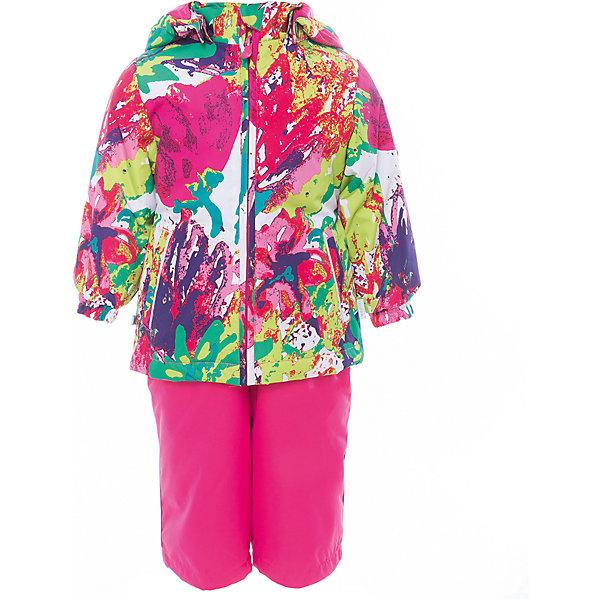 Комплект: куртка и полукомбинезон для девочки YONNE HuppaКомплекты<br>Характеристики товара:<br><br>• цвет: мультиколор/фуксия<br>• комплектация: куртка и полукомбинезон <br>• ткань: 100% полиэстер<br>• подкладка: тафта - 100% полиэстер<br>• утеплитель: куртка и полукомбинезон - 100% полиэстер 100 г.<br>• температурный режим: от -5°С до +10°С<br>• водонепроницаемость: верх - 5000 мм, низ - 10000 мм<br>• воздухопроницаемость: верх - 5000 мм, низ - 10000 мм<br>• светоотражающие детали<br>• шов сидения проклеен<br>• съёмный капюшон с резинкой<br>• защита подбородка от молнии<br>• эластичные манжеты на рукавах<br>• регулируемый низ брючин<br>• эластичный шнур с фиксатором внизу брючин<br>• без внутренних швов<br>• резиновые подтяжки<br>• коллекция: весна-лето 2017<br>• страна бренда: Эстония<br><br>Такой модный демисезонный комплект  обеспечит детям тепло и комфорт. Он сделан из материала, отталкивающего воду, и дополнен подкладкой с утеплителем, поэтому изделие идеально подходит для межсезонья. Материал изделий - с мембранной технологией: защищая от влаги и ветра, он легко выводит лишнюю влагу наружу. Комплект очень симпатично смотрится. <br><br>Одежда и обувь от популярного эстонского бренда Huppa - отличный вариант одеть ребенка можно и комфортно. Вещи, выпускаемые компанией, качественные, продуманные и очень удобные. Для производства изделий используются только безопасные для детей материалы. Продукция от Huppa порадует и детей, и их родителей!<br><br>Комплект: куртка и полукомбинезон YONNE от бренда Huppa (Хуппа) можно купить в нашем интернет-магазине.<br>Ширина мм: 356; Глубина мм: 10; Высота мм: 245; Вес г: 519; Цвет: розовый; Возраст от месяцев: 12; Возраст до месяцев: 18; Пол: Женский; Возраст: Детский; Размер: 86,122,116,110,104,98,92,80; SKU: 5346627;