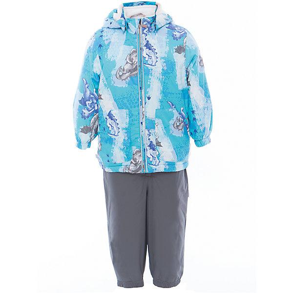 Комплект: куртка и полукомбинезон для мальчика CARLO HuppaВерхняя одежда<br>Характеристики товара:<br><br>• цвет: светло-голубой принт/серый<br>• комплектация: куртка и полукомбинезон <br>• ткань: 100% полиэстер<br>• подкладка: тафта - 100% полиэстер<br>• утеплитель: 100% полиэстер; куртка 100 г, полукомбинезон 40 г<br>• температурный режим: от -5°С до +10°С<br>• водонепроницаемость: верх - 5000 мм, низ - 10000 мм<br>• воздухопроницаемость: верх - 5000 мм, низ - 10000 мм<br>• светоотражающие детали<br>• шов сидения проклеен<br>• съёмный капюшон с резинкой<br>• эластичные манжеты на рукавах<br>• манжеты брюк с резинкой<br>• съёмные эластичные штрипки<br>• без внутренних швов<br>• резиновые подтяжки<br>• коллекция: весна-лето 2017<br>• страна бренда: Эстония<br><br>Такой модный демисезонный комплект  обеспечит детям тепло и комфорт. Он сделан из материала, отталкивающего воду, и дополнен подкладкой с утеплителем, поэтому изделие идеально подходит для межсезонья. Материал изделий - с мембранной технологией: защищая от влаги и ветра, он легко выводит лишнюю влагу наружу. Комплект очень симпатично смотрится. <br><br>Одежда и обувь от популярного эстонского бренда Huppa - отличный вариант одеть ребенка можно и комфортно. Вещи, выпускаемые компанией, качественные, продуманные и очень удобные. Для производства изделий используются только безопасные для детей материалы. Продукция от Huppa порадует и детей, и их родителей!<br><br>Комплект: куртка и полукомбинезон для мальчика CARLO от бренда Huppa (Хуппа) можно купить в нашем интернет-магазине.<br>Ширина мм: 356; Глубина мм: 10; Высота мм: 245; Вес г: 519; Цвет: синий; Возраст от месяцев: 12; Возраст до месяцев: 15; Пол: Мужской; Возраст: Детский; Размер: 80,110,104,98,92,86; SKU: 5346690;