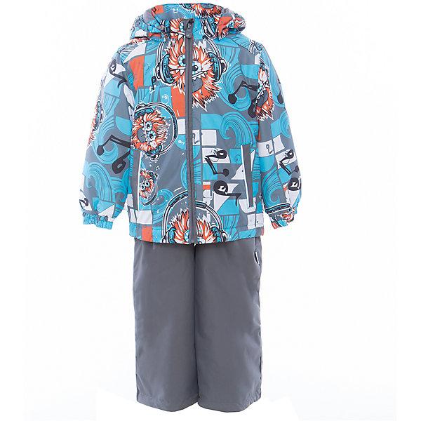 Комплект: куртка и полукомбинезон YOKO для мальчика HuppaКомплекты<br>Характеристики товара:<br><br>• цвет: голубой принт/серый<br>• комплектация: куртка и полукомбинезон <br>• ткань: 100% полиэстер<br>• подкладка: тафта - 100% полиэстер<br>• утеплитель: в куртке и в брюках - 100% полиэстер 100 г<br>• температурный режим: от -5°С до +10°С<br>• водонепроницаемость: 10000 мм<br>• воздухопроницаемость: 10000 мм<br>• светоотражающие детали<br>• шов сидения проклеен<br>• эластичный шнур по низу куртки<br>• эластичный шнур с фиксатором внизу брючин<br>• съёмный капюшон с резинкой<br>• эластичные манжеты рукавов<br>• регулируемые низы брючин<br>• без внутренних швов<br>• резиновые подтяжки<br>• коллекция: весна-лето 2017<br>• страна бренда: Эстония<br><br>Такой модный демисезонный комплект  обеспечит детям тепло и комфорт. Он сделан из материала, отталкивающего воду, и дополнен подкладкой с утеплителем, поэтому изделие идеально подходит для межсезонья. Материал изделий - с мембранной технологией: защищая от влаги и ветра, он легко выводит лишнюю влагу наружу. Комплект очень симпатично смотрится. <br><br>Одежда и обувь от популярного эстонского бренда Huppa - отличный вариант одеть ребенка можно и комфортно. Вещи, выпускаемые компанией, качественные, продуманные и очень удобные. Для производства изделий используются только безопасные для детей материалы. Продукция от Huppa порадует и детей, и их родителей!<br><br>Комплект: куртка и полукомбинезон YOKO от бренда Huppa (Хуппа) можно купить в нашем интернет-магазине.<br>Ширина мм: 356; Глубина мм: 10; Высота мм: 245; Вес г: 519; Цвет: голубой; Возраст от месяцев: 18; Возраст до месяцев: 24; Пол: Мужской; Возраст: Детский; Размер: 122,116,110,104,98,92; SKU: 5346732;