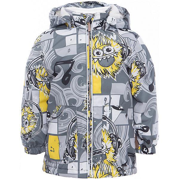 Куртка для мальчика BERTY HuppaДемисезонные куртки<br>Характеристики товара:<br><br>• цвет: серый принт<br>• ткань: 100% полиэстер<br>• подкладка: Coral-fleece, смесь хлопка и полиэстера, в рукавах тафат - 100% полиэстер<br>• утеплитель: 100% полиэстер 100 г<br>• температурный режим: от -5°С до +10°С<br>• водонепроницаемость: 10000 мм<br>• воздухопроницаемость: 10000 мм<br>• светоотражающие детали<br>• эластичные манжеты<br>• эластичный шнурок + фиксатор<br>• защита подбородка<br>• съёмный капюшон с резинкой<br>• комфортная посадка<br>• коллекция: весна-лето 2017<br>• страна бренда: Эстония<br><br>Такая легкая и стильная куртка обеспечит детям тепло и комфорт. Она сделана из материала, отталкивающего воду, и дополнено подкладкой с утеплителем, поэтому изделие идеально подходит для межсезонья. Материал изделия - с мембранной технологией: защищая от влаги и ветра, он легко выводит лишнюю влагу наружу. Для удобства сделан капюшон. Куртка очень симпатично смотрится, яркая расцветка и крой добавляют ему оригинальности. Модель была разработана специально для детей.<br><br>Одежда и обувь от популярного эстонского бренда Huppa - отличный вариант одеть ребенка можно и комфортно. Вещи, выпускаемые компанией, качественные, продуманные и очень удобные. Для производства изделий используются только безопасные для детей материалы. Продукция от Huppa порадует и детей, и их родителей!<br><br>Куртку для мальчика BERTY от бренда Huppa (Хуппа) можно купить в нашем интернет-магазине.<br>Ширина мм: 356; Глубина мм: 10; Высота мм: 245; Вес г: 519; Цвет: серый; Возраст от месяцев: 18; Возраст до месяцев: 24; Пол: Мужской; Возраст: Детский; Размер: 92,110,104,98,86,80; SKU: 5346966;
