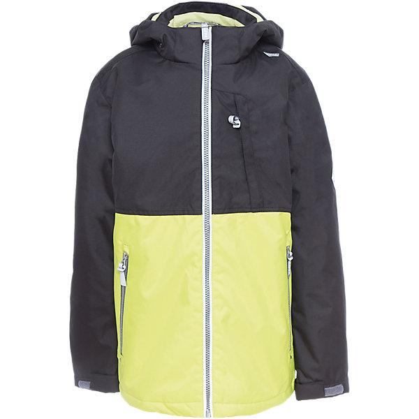 Куртка для мальчика TREVOR HuppaДемисезонные куртки<br>Характеристики товара:<br><br>• цвет: чёрный/лайм<br>• ткань: 100% полиэстер<br>• подкладка: тафта - 100% полиэстер<br>• утеплитель: 100% полиэстер 100 г<br>• температурный режим: от -5°С до +10°С<br>• водонепроницаемость: 10000 мм<br>• воздухопроницаемость: 10000 мм<br>• светоотражающие детали<br>• эластичные манжеты<br>• проклеенные швы<br>• карманы на молнии<br>• эластичный шнур + фиксатор<br>• съёмный капюшон с резинкой<br>• регулируемые манжеты<br>• комфортная посадка<br>• коллекция: весна-лето 2017<br>• страна бренда: Эстония<br><br>Эта стильная куртка обеспечит детям тепло и комфорт. Она сделана из материала, отталкивающего воду, и дополнено подкладкой с утеплителем, поэтому изделие идеально подходит для межсезонья. Материал изделия - с мембранной технологией: защищая от влаги и ветра, он легко выводит лишнюю влагу наружу. Для удобства сделан капюшон. Куртка очень симпатично смотрится, яркая расцветка и крой добавляют ему оригинальности. Модель была разработана специально для детей.<br><br>Одежда и обувь от популярного эстонского бренда Huppa - отличный вариант одеть ребенка можно и комфортно. Вещи, выпускаемые компанией, качественные, продуманные и очень удобные. Для производства изделий используются только безопасные для детей материалы. Продукция от Huppa порадует и детей, и их родителей!<br><br>Куртку для мальчика TREVOR от бренда Huppa (Хуппа) можно купить в нашем интернет-магазине.<br>Ширина мм: 356; Глубина мм: 10; Высота мм: 245; Вес г: 519; Цвет: зеленый; Возраст от месяцев: 84; Возраст до месяцев: 96; Пол: Мужской; Возраст: Детский; Размер: 128,104,152,146,140,134,122,116,110; SKU: 5347043;