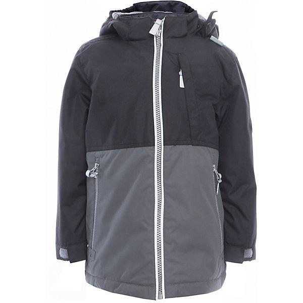 Куртка для мальчика TREVOR HuppaДемисезонные куртки<br>Характеристики товара:<br><br>• цвет: чёрный/серый<br>• ткань: 100% полиэстер<br>• подкладка: тафта - 100% полиэстер<br>• утеплитель: 100% полиэстер 100 г<br>• температурный режим: от -5°С до +10°С<br>• водонепроницаемость: 10000 мм<br>• воздухопроницаемость: 10000 мм<br>• светоотражающие детали<br>• эластичные манжеты<br>• проклеенные швы<br>• карманы на молнии<br>• эластичный шнур + фиксатор<br>• съёмный капюшон с резинкой<br>• регулируемые манжеты<br>• комфортная посадка<br>• коллекция: весна-лето 2017<br>• страна бренда: Эстония<br><br>Эта стильная куртка обеспечит детям тепло и комфорт. Она сделана из материала, отталкивающего воду, и дополнено подкладкой с утеплителем, поэтому изделие идеально подходит для межсезонья. Материал изделия - с мембранной технологией: защищая от влаги и ветра, он легко выводит лишнюю влагу наружу. Для удобства сделан капюшон. Куртка очень симпатично смотрится, яркая расцветка и крой добавляют ему оригинальности. Модель была разработана специально для детей.<br><br>Одежда и обувь от популярного эстонского бренда Huppa - отличный вариант одеть ребенка можно и комфортно. Вещи, выпускаемые компанией, качественные, продуманные и очень удобные. Для производства изделий используются только безопасные для детей материалы. Продукция от Huppa порадует и детей, и их родителей!<br><br>Куртку для мальчика TREVOR от бренда Huppa (Хуппа) можно купить в нашем интернет-магазине.<br>Ширина мм: 356; Глубина мм: 10; Высота мм: 245; Вес г: 519; Цвет: серый; Возраст от месяцев: 36; Возраст до месяцев: 48; Пол: Мужской; Возраст: Детский; Размер: 104,152,146,140,134,128,122,116,110; SKU: 5347053;
