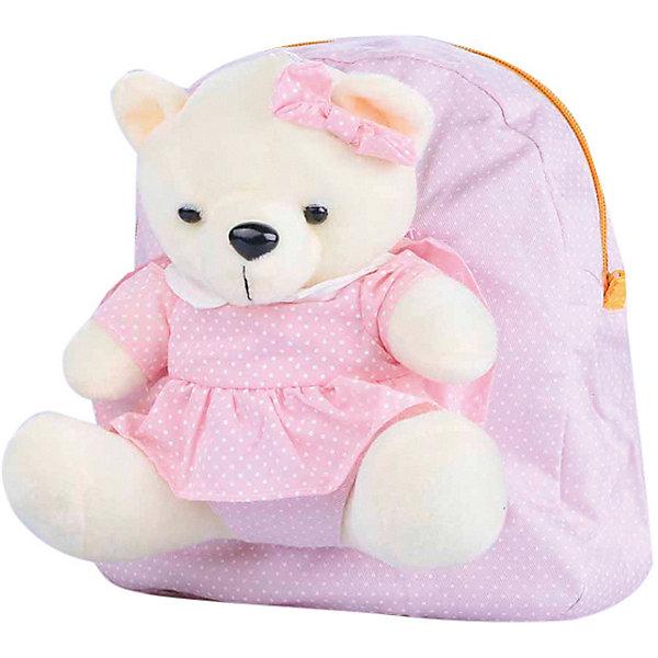 Рюкзак VITACCIДетские сумки<br>Характеристики:<br><br>• Тип сумки: рюкзак<br>• Пол: для девочки<br>• Цвет: розовый<br>• Сезон: круглый год<br>• Тематика рисунка: горошек<br>• Тип застежки: молния<br>• Лямки регулируются по длине<br>• Одно отделение <br>• Предусмотрена ручка-петля<br>• Наличие внутреннего кармана<br>• Наличие игрушки-медвежонка на липучке<br>• Материал: текстиль <br>• Габариты: ширина днища – 9 см, высота – 26 см<br>• Размеры лямок (Ш*Д): 14*22 см<br>• Вес: 400 г<br>• Особенности ухода: влажная чистка, сухая чистка<br><br>Рюкзак VITACCI от лидера российско-итальянского предприятия, которое специализируется на выпуске высококачественной обуви и аксессуаров как для взрослых, так и для детей. Детские сумки этого торгового бренда изготавливаются с учетом анатомических особенностей детей и имеют эргономичную форму. Форма и дизайн сумок разрабатывается итальянскими ведущими дизайнерами и отражает новейшие тенденции в мире моды. Особенность этого торгового бренда заключается в эксклюзивном сочетании материалов разных фактур и декорирование изделий стильными аксессуарами. <br><br>Рюкзак VITACCI изготовлен из экологически безопасного и гипоаллергенного текстиля. У рюкзака предусмотрено одно просторное отделение с внутренним карманом. Лямки регулируются по длине. Рюкзак выполнен в стильном дизайне: рисунок в мелкий горошек из контрастных цветов. Спереди у рюкзака предусмотрен кармашек, в котором сидит очаровательный мягкий медвежонок в платьице. С таким рюкзачком особенно приятно отправляться в дальние поездки и путешествия!<br><br>Рюкзак VITACCI – это стильный аксессуар, который создаст неповторимый образ вашего ребенка! <br><br>Рюкзак VITACCI можно купить в нашем интернет-магазине.<br>Ширина мм: 170; Глубина мм: 157; Высота мм: 67; Вес г: 117; Цвет: розовый; Возраст от месяцев: 36; Возраст до месяцев: 144; Пол: Женский; Возраст: Детский; Размер: one size; SKU: 5347421;