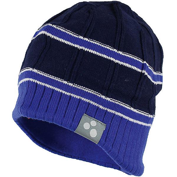 Фото - Huppa Шапка JARROD для мальчика Huppa шапка для мальчика huppa jarrod цвет темно синий синий 80060000 70086 размер m 47 49