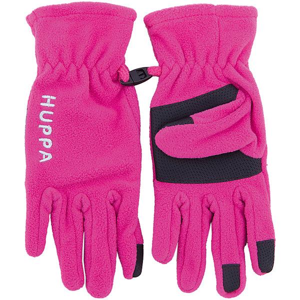 Huppa Флисовые перчатки Huppa Aamu перчатки без пальцев шерстяные с рисунком бордо