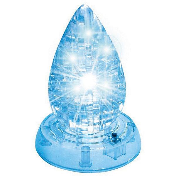 Кристаллический пазл-cветильник 3D Капля LКристаллические пазлы<br>Характеристики товара:<br><br>• возраст: от 14 лет;<br>• материал: пластик;<br>• в комплекте: 26 элементов, инструкция;<br>• тип батареек: батарейки L1131;<br>• наличие батареек: демонстрационные в комплекте;<br>• размер упаковки: 16х10х4 см;<br>• вес упаковки: 200 гр.;<br>• страна производитель: Китай.<br><br>Кристаллический 3D пазл-светильник «Капля» Educational Line позволит собрать объемную фигурку из пластиковых деталей пазла. Все детали прочно соединяются между собой и крепко держатся. Готовая модель оснащена светящимся элементом и может использоваться в качестве оригинального светильника в детской комнате. В процессе сборки пазла развиваются мелкая моторика рук, усидчивость, внимательность, логическое мышление. <br><br>Кристаллический 3D пазл-светильник «Капля» Educational Line можно приобрести в нашем интернет-магазине.<br>Ширина мм: 13; Глубина мм: 18; Высота мм: 4; Вес г: 128; Возраст от месяцев: 168; Возраст до месяцев: 2147483647; Пол: Унисекс; Возраст: Детский; Количество деталей: 26; SKU: 5362957;