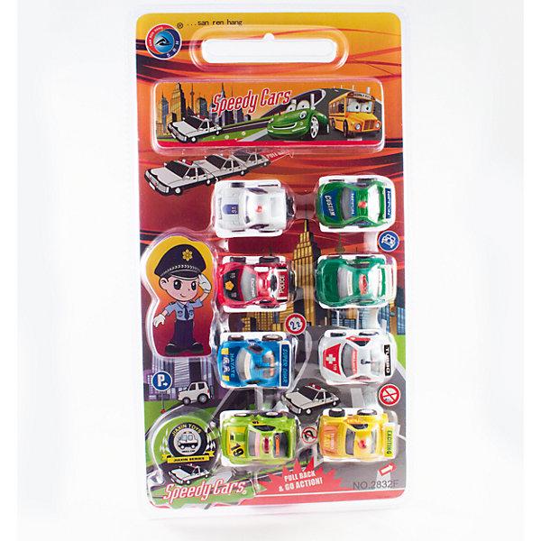 Дрофа-Медиа Набор инерционных машинокПолицейский патруль, 8 шт. набор инерционных игрушек мотоциклы 966 11
