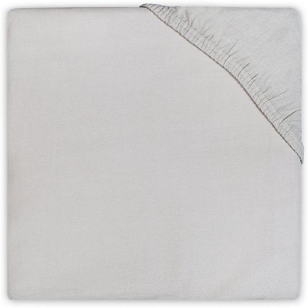 jollein Простыня на резинке 60х120 см, Jollein, Light grey постельное белье jollein wild animals 140х200 см