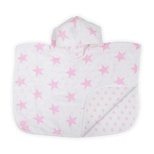 jollein Муслиновое полотенце-пончо 45х60 см, Jollein, Little star pink jollein многоцелевые муслин 70х70 см 6 шт розовые облака