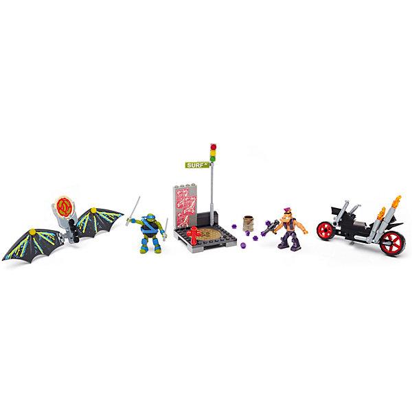 Черепашки Ниндзя: черепаший глайдер, MEGA BLOKSПластмассовые конструкторы<br>Характеристики:<br><br>• тип игрушки: игровой набор;<br>• возраст: от 5 лет;<br>• размер: 23х26х6 см;<br>• количество деталей: 130 шт;<br>• бренд: Mega Bloks;<br>• материал: пластик;<br>• страна бренда: Канада.<br><br>«Черепашки Ниндзя: черепаший глайдер» MEGA BLOKS порадует детей от 5 лет. Погоня началась, как только Лео заметил Бибо, который едет по воздуху с помощью планера.<br>Из детелей конструктора ребенок сможет собрать: сборный планер черепашек с пиццезапускателем и движущимися крыльями, сборный мотоцикл с крутящимися колесами, сборная уличная сцена с канализационным люком, одна сборная высокоподвижная микро-фигурка Лео с рубящей силой черепашек, одна сборная высокоподвижная микро-фигурка Бибо, аксессуары: светофор со столбом,  анализационный люк, пожарный гидрант, нефтяная бочка и фирменное оружие персонажей. Совместимые блоки соединяются с игровыми конструкторами других марок. <br><br>«Черепашки Ниндзя: черепаший глайдер» MEGA BLOKS можно купить в нашем интернет-магазине.<br>Ширина мм: 260; Глубина мм: 60; Высота мм: 230; Вес г: 453; Возраст от месяцев: 60; Возраст до месяцев: 120; Пол: Мужской; Возраст: Детский; SKU: 5378243;
