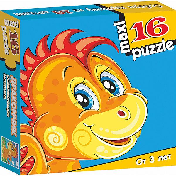 Развивающая мозаика Дракончик, Дрофа-МедиаПазлы для малышей<br>Характеристики развивающей мозаики Дракончик:<br><br>- размер собираемой картинки 31*33 см.<br>- возраст: от 3 лет<br>- пол: для мальчиков и девочек<br>- количество элементов: 16.<br>- размеры: 16.7*16.7*3 см<br>- вес 154 г.<br>- бренд: Дрофа-Медиа<br>- страна обладатель бренда: Россия.<br><br>Крупные и яркие детали мозаики привлекут внимание даже самых маленьких детей. Собирая картинку из 16 частей, малыш учиться соотносись отдельные элементы и целое изображение, подбирать фрагменты по цвету и форме. Игра развивает наблюдательность, усидчивость, зрительное восприятие. Постоянно манипулируя деталями мозаики, ребенок совершенствует мелкую моторику рук, что по заключениям психологов, напрямую влияет на развитие речи и интеллектуальных способностей.<br><br>Развивающая мозаика Дракончик издательства Дрофа-Медиа можно купить в нашем интернет-магазине.<br>Ширина мм: 165; Глубина мм: 30; Высота мм: 165; Вес г: 170; Возраст от месяцев: 36; Возраст до месяцев: 2147483647; Пол: Унисекс; Возраст: Детский; SKU: 5386293;
