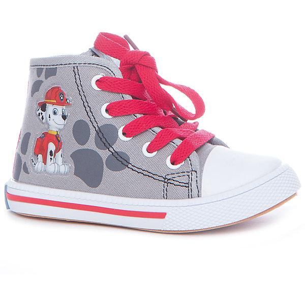 Кеды для мальчика KakaduКеды<br>Характеристики:<br><br>• цвет: серый<br>• внешний метариал обуви: текстиль<br>• внутренний материал обуви: 100% хлопок<br>• стелька: 100% хлопок<br>• подошва: ПВХ<br>• высота подошвы: 1 см<br>• анатомическая стелька<br>• съёмная стелька<br>• застежка: молния сбоку, шнурки<br>• защищённый мыс<br>• сезон: лето<br>• тип обуви: высокие кеды<br>• тип подошвы: рифлёная<br>• способ крепления подошвы: литая<br>• изображение геров мультфильма Щенячий патруль<br>• уход: удаление загрязнений мягкой щеткой<br>• страна бренда: Россия<br>• страна производства: Китай<br><br>Полуботинки для мальчика KAKADU от Сrossway – это обувь, которая характеризуется высокими качественными и потребительскими характеристиками: прочная, удобная и при этом модная, и яркая! Полуботинки предназначены для летних прогулок. Они выполнены с учетом анатомических особенностей детской стопы: у конструкции стельки предусмотрен профилированный свод стопы, который способствует не только правильной фиксации ноги, но и является эффективным средством профилактики плоскостопия. <br><br>Верх изделия – из текстиля, который обладает высокой воздухопроницаемостью и гигроскопичностью, внутренняя часть и съемная стелька изготовлены из хлопка. Подошва выполнена из поливинилхлорида, который особенно устойчив к истиранию. <br><br>Сбоку предусмотрена застежка-молния, спереди – шнуровка, которая выполняет не только декоративные функции, но и обеспечивает хорошую фиксацию обуви. Высокие кеды имеют классическую форму и стильный дизайн: выполнены с эффектом джинсовой ткани и декорированы изображением в виде героя из мультфильма Щенячий патруль – Гонщика.<br><br>Полуботинки для мальчика KAKADU можно купить в нашем интернет-магазине.<br>Ширина мм: 262; Глубина мм: 176; Высота мм: 97; Вес г: 427; Цвет: серый; Возраст от месяцев: 36; Возраст до месяцев: 48; Пол: Мужской; Возраст: Детский; Размер: 27,25,30,29,28,26; SKU: 5386405;