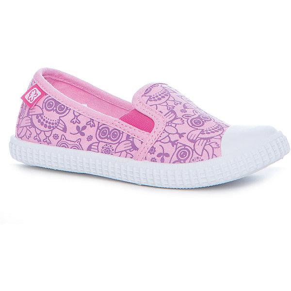 Слипоны для девочки KakaduТекстильные туфли<br>Характеристики:<br><br>• цвет: розовый<br>• внешний материал: текстиль<br>• внутренний материал: текстиль<br>• стелька: хлопок<br>• подошва: ТПР<br>• высота подошвы: 1 см<br>• съёмная анатомическая стелька<br>• усиленный защищённый мыс<br>• тип застежки: без застежки<br>• сезон: лето<br>• тип обуви: слипоны<br>• тип подошвы: рифлёная<br>• способ крепления подошвы: литая<br>• уход: удаление загрязнений мягкой щеткой<br>• страна бренда: Россия<br>• страна изготовитель: Китай<br><br>Туфли выполнены с учетом анатомических особенностей детской стопы: у конструкции стельки предусмотрен профилированный свод стопы, который способствует не только правильной фиксации ноги, но и является эффективным средством профилактики плоскостопия. Верх изделия – из текстиля, который обладает высокой воздухопроницаемостью и гигроскопичностью, внутренняя часть и съемная стелька изготовлены из хлопка. <br><br>Подошва выполнена из термопластичной резины, которая обладает легким весом и эластичностью. По бокам предусмотрены эластичные вставки. Высокие кеды имеют классическую форму и модный дизайн: принт из сиреневых совушек на бирюзовом фоне.<br><br>Туфли для девочки KAKADU можно купить в нашем интернет-магазине.<br>Ширина мм: 227; Глубина мм: 145; Высота мм: 124; Вес г: 325; Цвет: розовый; Возраст от месяцев: 48; Возраст до месяцев: 60; Пол: Женский; Возраст: Детский; Размер: 28,33,32,31,30,29; SKU: 5386920;