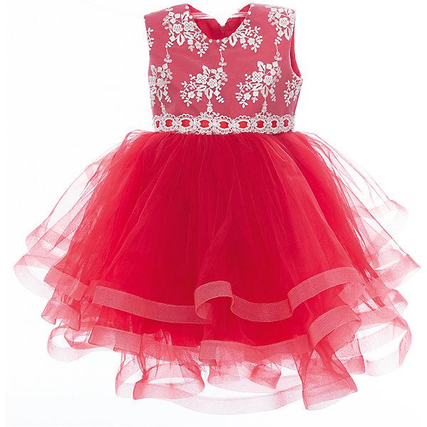 Платье нарядное для девочки ПрестижОдежда<br>Характеристики:<br><br>• Вид детской и подростковой одежды: платье<br>• Предназначение: праздничная<br>• Коллекция: Veronikaiko<br>• Сезон: круглый год<br>• Тематика рисунка: цветы<br>• Цвет: красный<br>• Материал: 100% полиэстер<br>• Силуэт: А-силуэт<br>• Юбка: солнце<br>• Рукав: без рукава<br>• Вырез горловины: круглый<br>• Длина платья: миди<br>• Застежка: молния на спинке<br>• Особенности ухода: ручная стирка при температуре не более 30 градусов<br><br>Платье нарядное для девочки Престиж от отечественного производителя праздничной одежды и аксессуаров как для взрослых, так и для детей. Изделие выполнено из 100% полиэстера, который обладает легкостью, прочностью, устойчивостью к износу и пятнам. <br><br>Платье отрезное по талии, имеет классический А-силуэт. Круглая горловина декорирована бусинами и стразами. Платье выполнено в нежном дизайне: верх платья оформлен вышитыми букетиками белых цветов и многоярусная фатиновая юбка придают изделию особую воздушность и легкость. <br><br>Платье нарядное для девочки Престиж – это неповторимый стиль вашей девочки на любом торжестве!<br><br>Платье нарядное для девочки Престиж можно купить в нашем интернет-магазине.<br>Ширина мм: 236; Глубина мм: 16; Высота мм: 184; Вес г: 177; Цвет: красный; Возраст от месяцев: 36; Возраст до месяцев: 48; Пол: Женский; Возраст: Детский; Размер: 104,116,110; SKU: 5387696;
