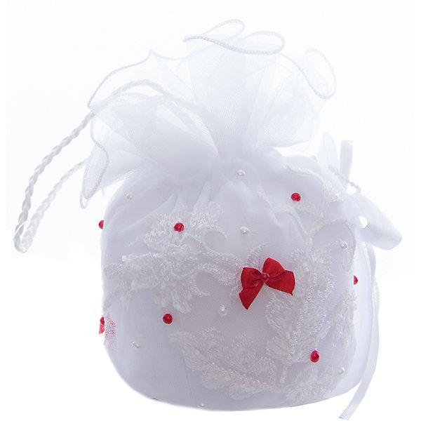 Сумочка для девочки ПрестижАксессуары<br>Характеристики:<br><br>• Вид аксессуара: сумочка<br>• Пол: для девочки<br>• Предназначение: вечерняя<br>• Коллекция: IP<br>• Сезон: круглый год<br>• Цвет: белый, красный<br>• Материал: текстиль, кружево, фатин<br>• Особенности ухода: сухая чистка<br><br>Сумочка для девочки Престиж от отечественного производителя, который специализируется на выпуске праздничной одежды и аксессуаров как для взрослых, так и для детей. Изделие выполнено из сочетания текстиля, фатина, атласных лент. Все материалы хорошо держат и сохраняют форму, не вызывают аллергических реакций. У сумочки предусмотрена ручка. Декорирована стразами и бусинами.<br><br>Сумочка для девочки Престиж не только дополнит праздничный образ юной леди, но и сделает его изысканным и стильным!<br><br>Сумочку для девочки Престиж можно купить в нашем интернет-магазине.<br>Ширина мм: 170; Глубина мм: 157; Высота мм: 67; Вес г: 117; Цвет: красный; Возраст от месяцев: 60; Возраст до месяцев: 168; Пол: Женский; Возраст: Детский; Размер: one size; SKU: 5387795;